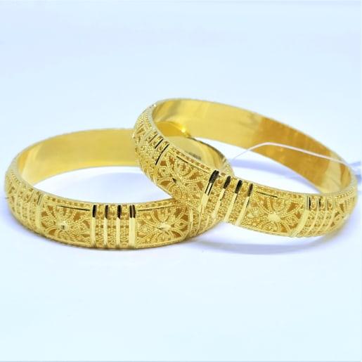 Rudrani Plain Gold Bangles