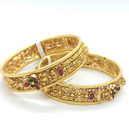 Lakshmi Gold Antique Bangles
