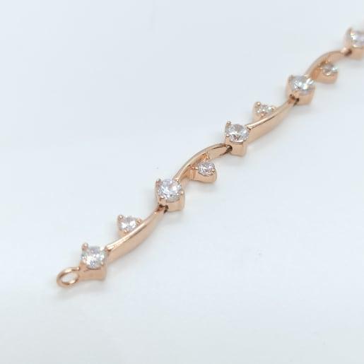 Rose Gold Color Cz Bracelet