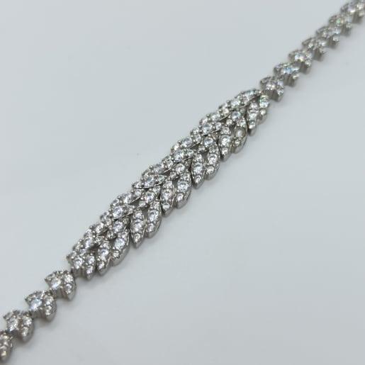 Leaf Cz Bracelet