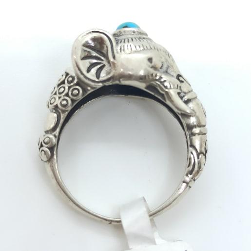 Gajraj Stone Oxidized Ring