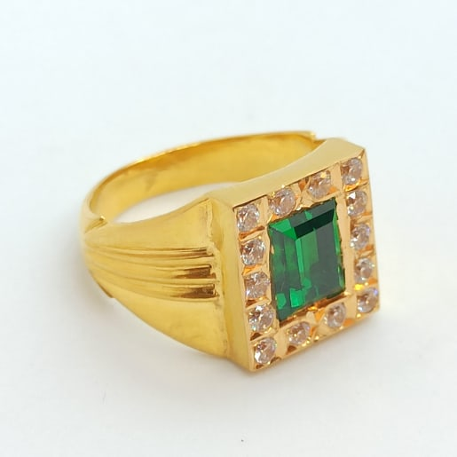 Emerald Cz Ring