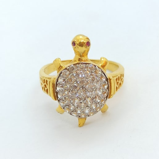 Turtle Cz Ring