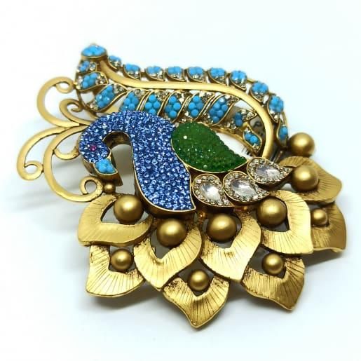 Blue Peacock Pendant Set