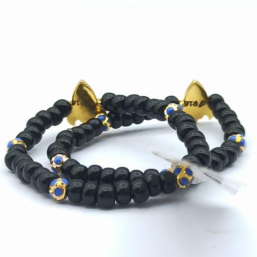 Rocket Enamel Bead Bracelet
