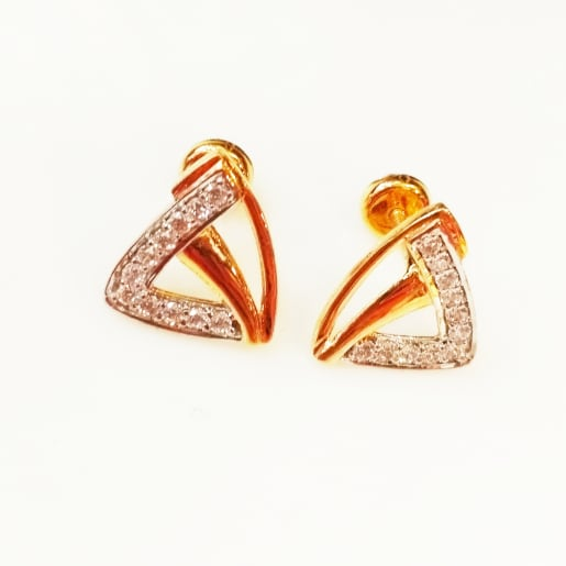 Gold Triangle Stud