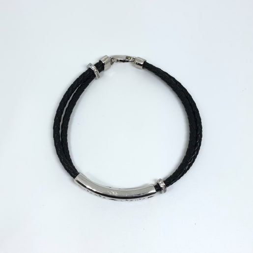 Gents Black Thread Bracelet