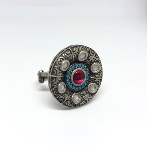 Antique Cocktail Silver Ring