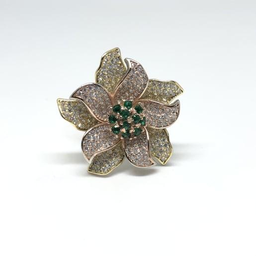 Flower Stone Ring