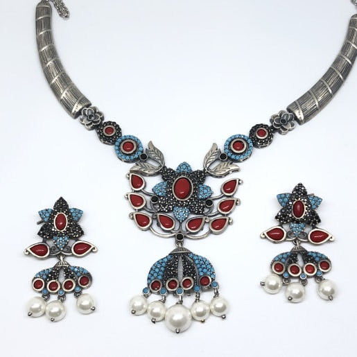 Colourful Necklace Set