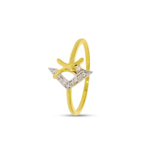 V Shape Diamond Ring