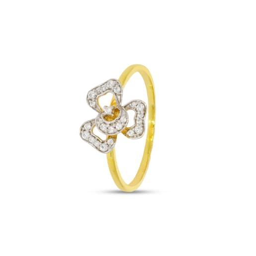 C Shape Diamond Ring