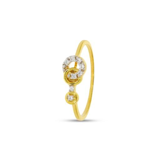 3 Circle Real Diamond Ring