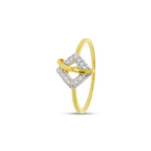 Rhombus Shape Real Diamond Ring