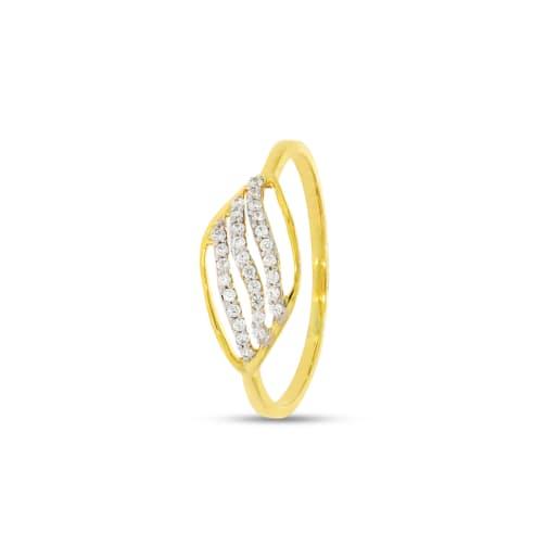3 Line Real Diamond Ring
