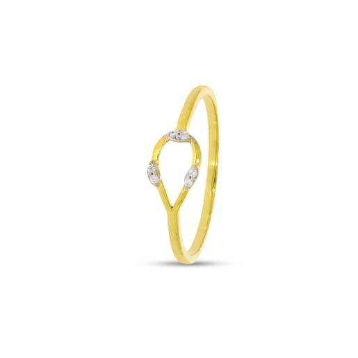 Pear Shape Real Diamond Ring