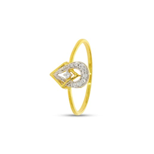 Solitaire With Rhodium Real Diamond Ring