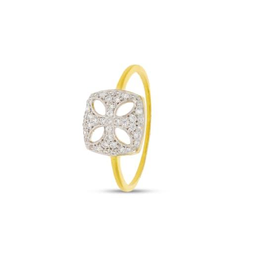 Asscher Shape Real Diamond Ring