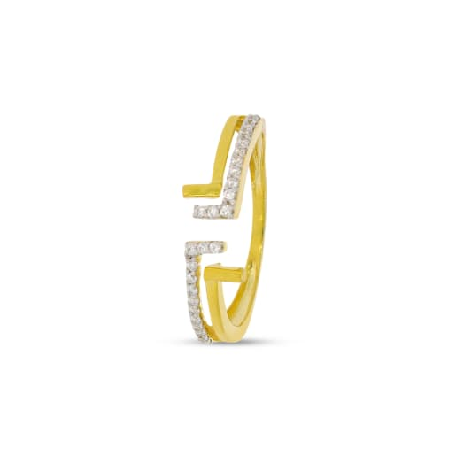 Diamond Ring With 2 Lines