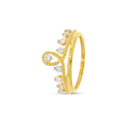 Queen Crown Shape Real Diamond Ring