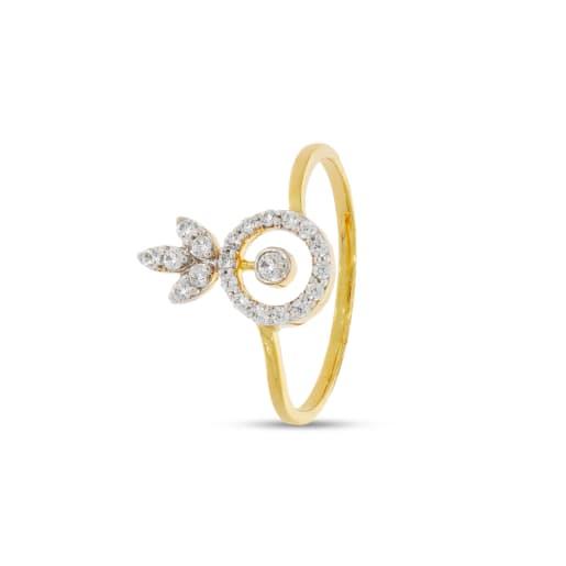 Circle With 21 Pcs Real Diamond Ring