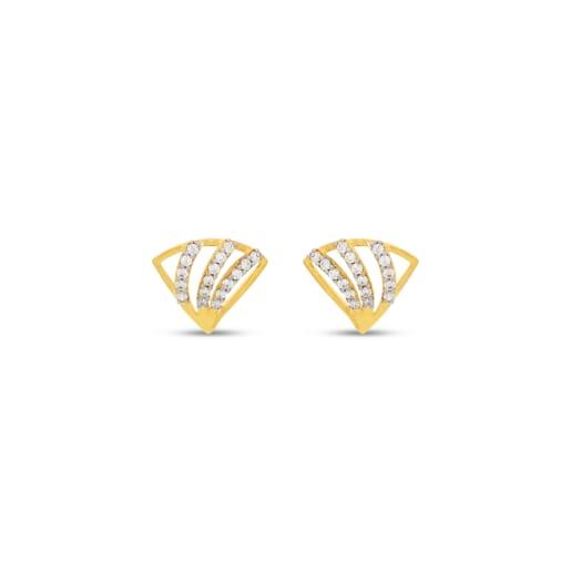 Real Diamond Stud Earring 16