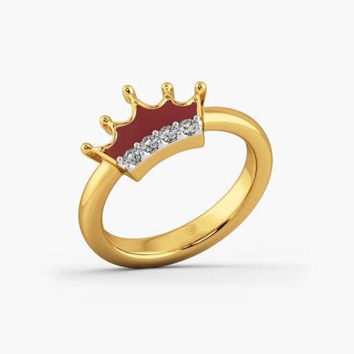 Crown Cz Kid Ring