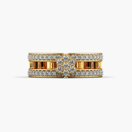 Designer Cz Gold Ring 1
