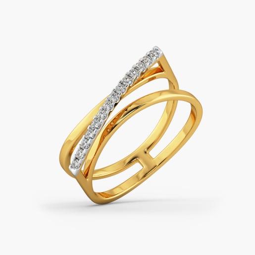 Designer Cz Gold Ring 2