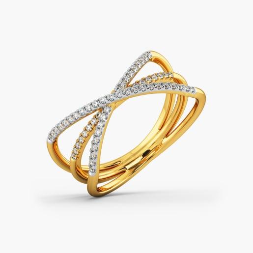 Designer Cz Gold Ring 3