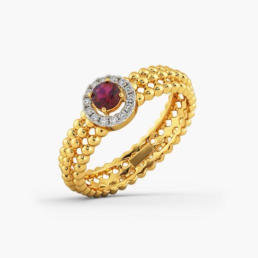 Designer Cz Gold Ring 4