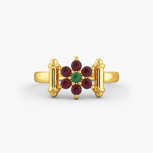 Designer Cz Gold Ring 6