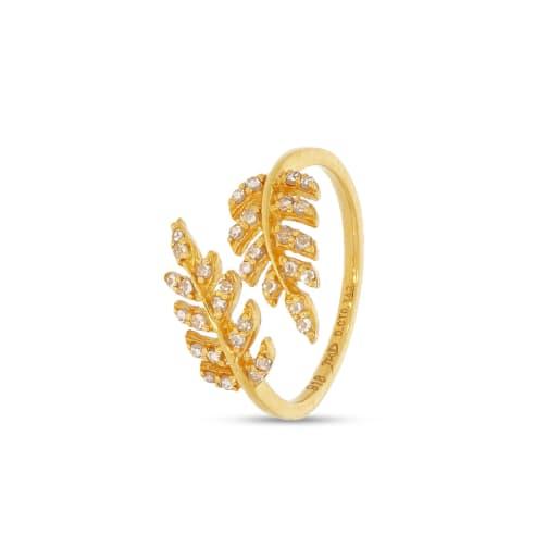 Leaf Un Cut Diamond Ring