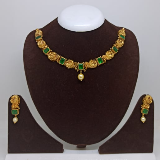 Green Stone Antique Necklace Set