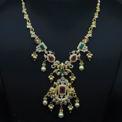 Peacock Necklace With Pearl