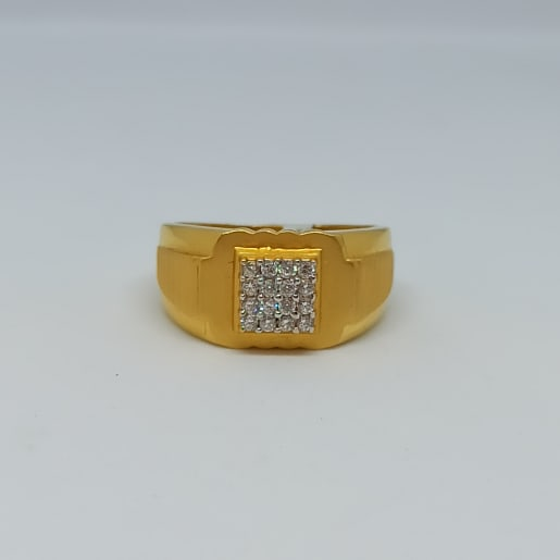 Square Shape Cz Ring For Him