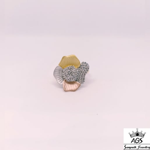 Flower Rose Gold Ring