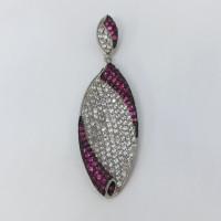 Purple And White Stone Pendant