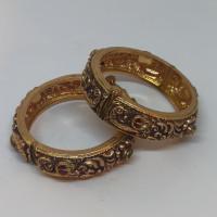 Floral Antique Gold Kada