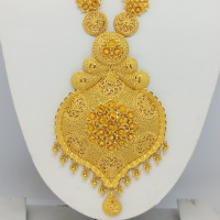 Lily Floral Gold Haram