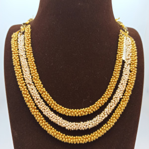 Gold Balls And Moti Necklace