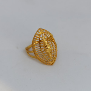 Plain Gold Leaf Ring