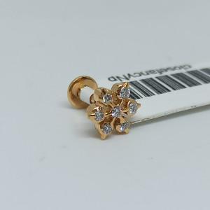 Floral Style Diamond Nosepins