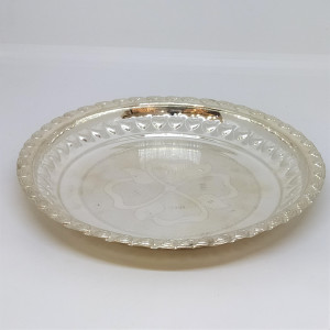 Silver Floral Dish