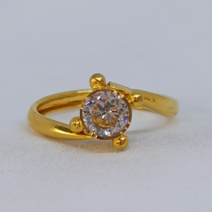 Single Stone Cz Ring
