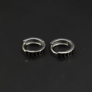 925 Silver Ekani Hoops