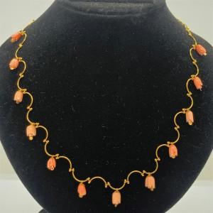 Pink Lotus Designer Necklace