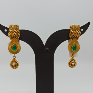 Green Pear Earrings For Her
