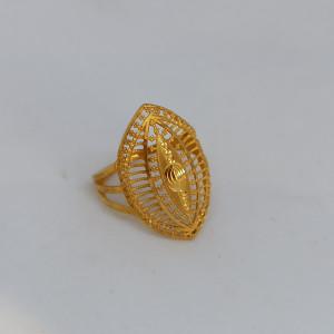 Plain Gold Leaf Ring