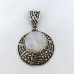 White Stone Pendant